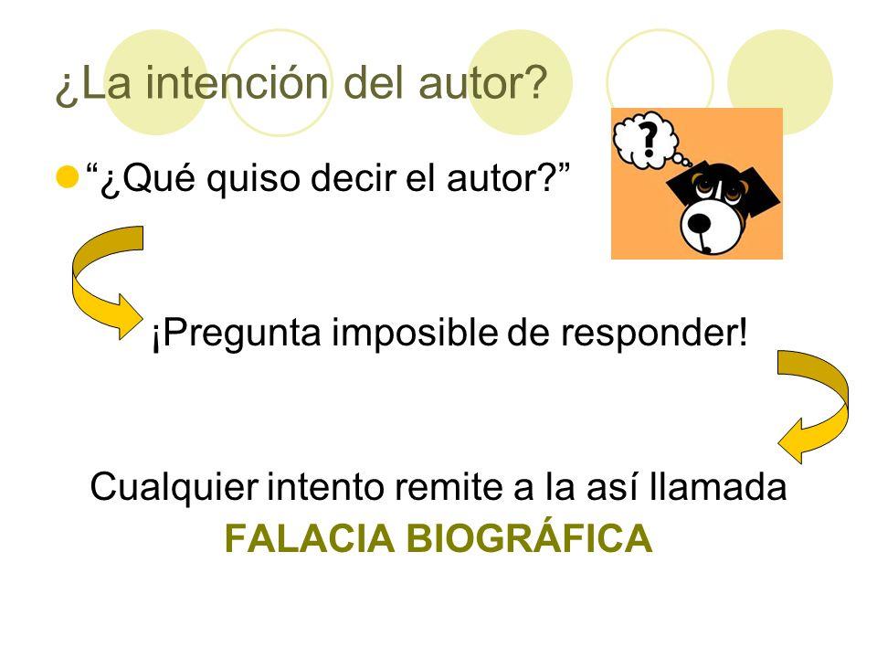 ¿La intención del autor
