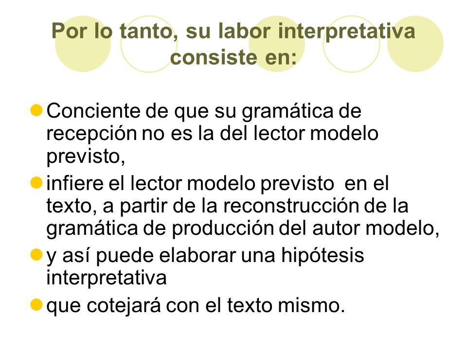 Por lo tanto, su labor interpretativa consiste en: