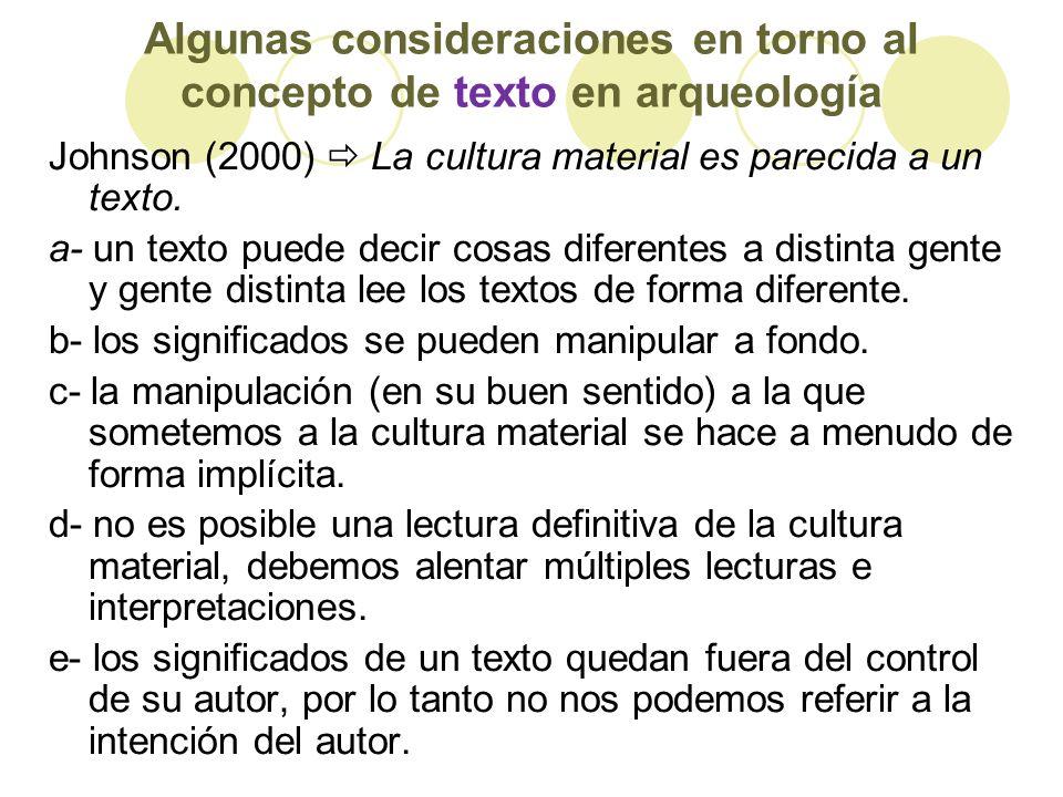 Algunas consideraciones en torno al concepto de texto en arqueología
