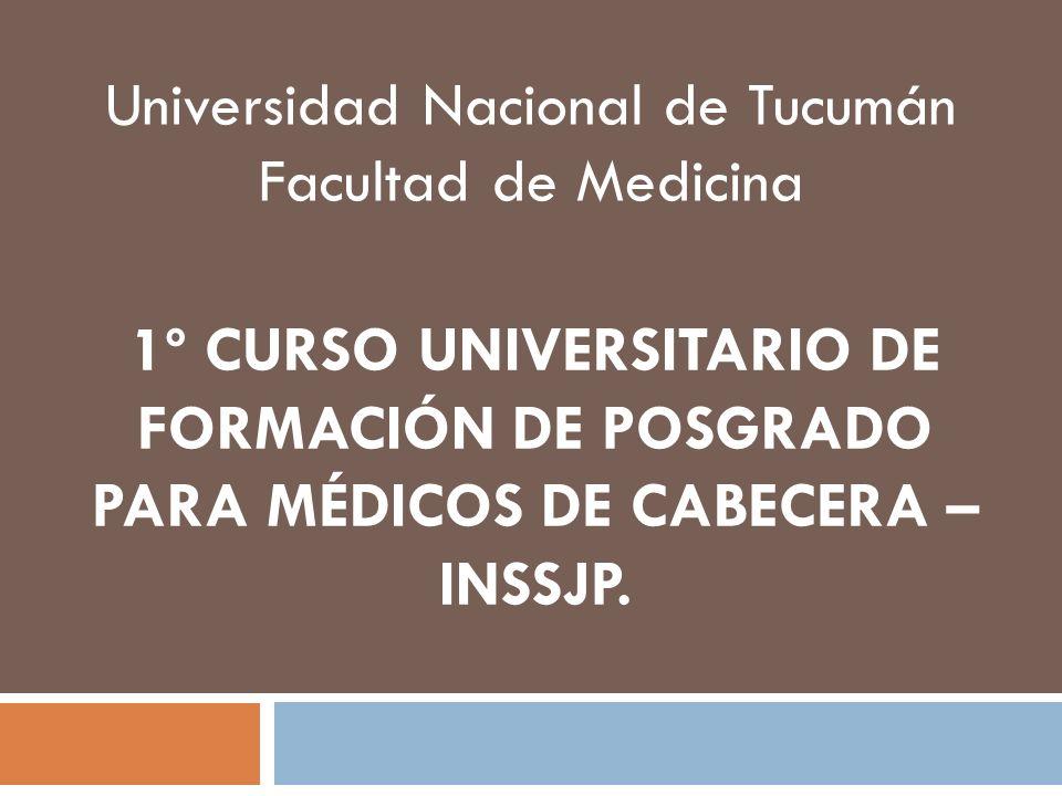 Universidad Nacional de Tucumán Facultad de Medicina