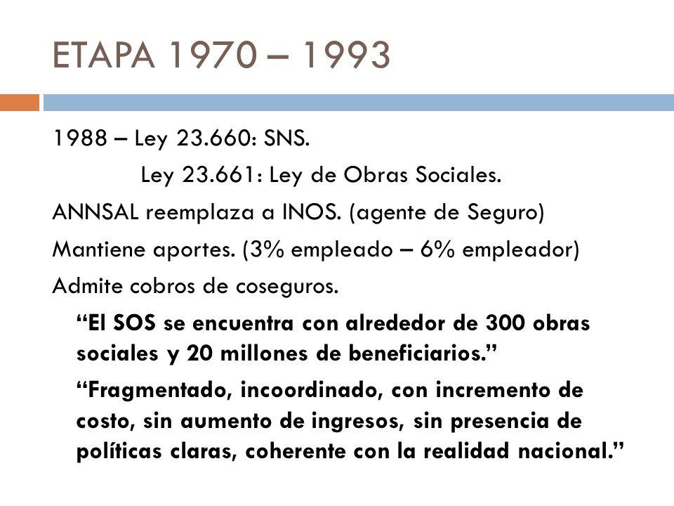 ETAPA 1970 – 1993
