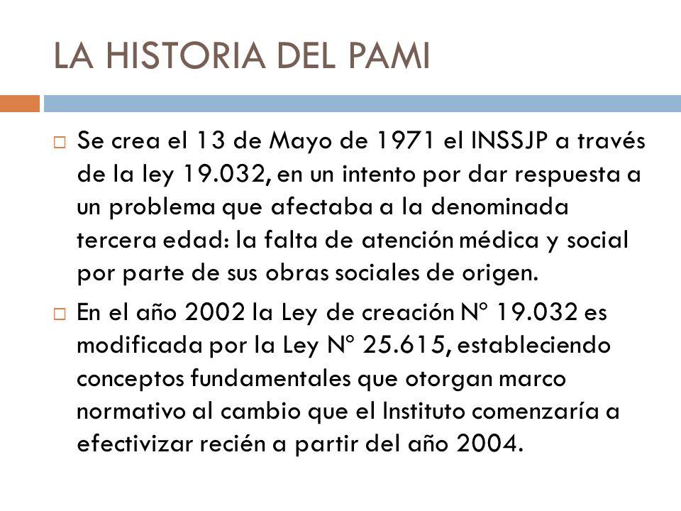 LA HISTORIA DEL PAMI