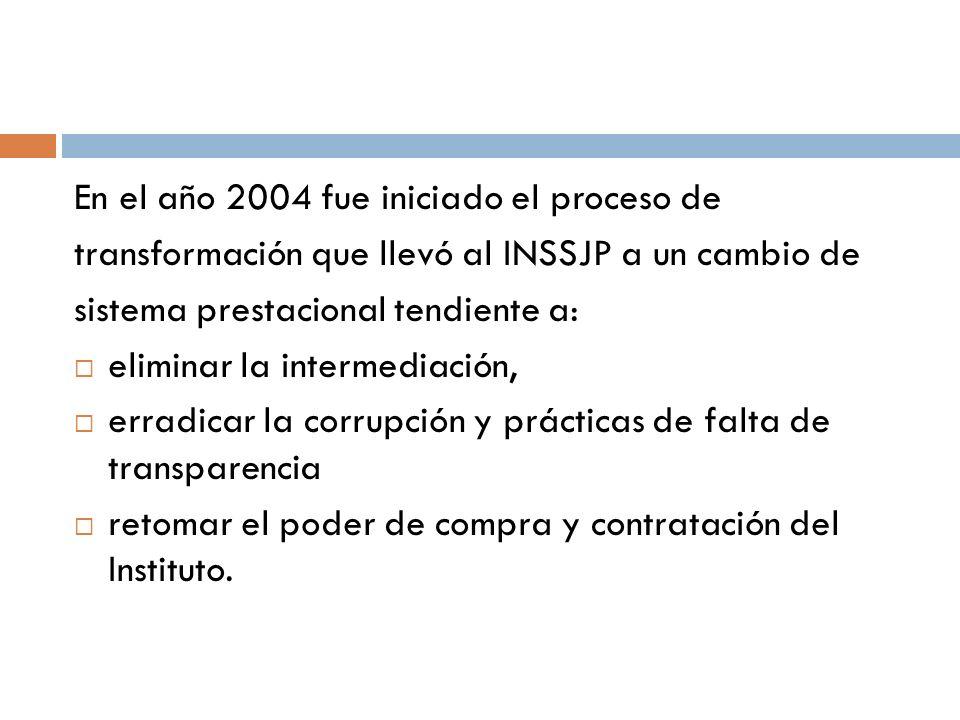En el año 2004 fue iniciado el proceso de