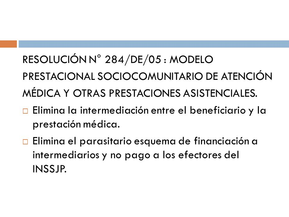 RESOLUCIÓN N° 284/DE/05 : MODELO