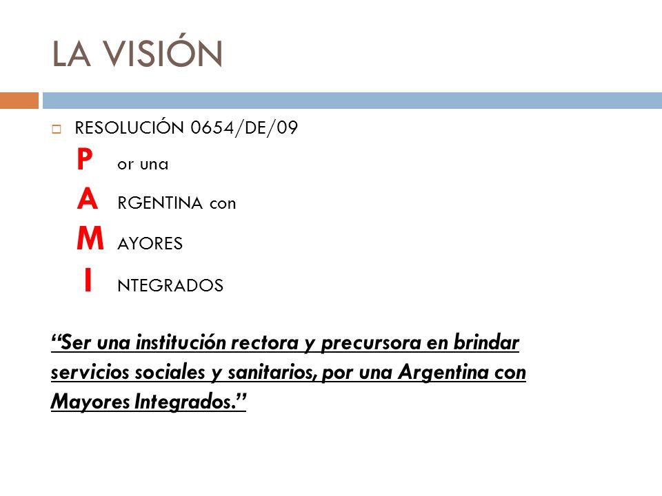 LA VISIÓN P or una A RGENTINA con M AYORES I NTEGRADOS