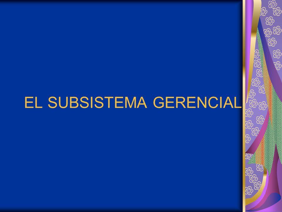EL SUBSISTEMA GERENCIAL
