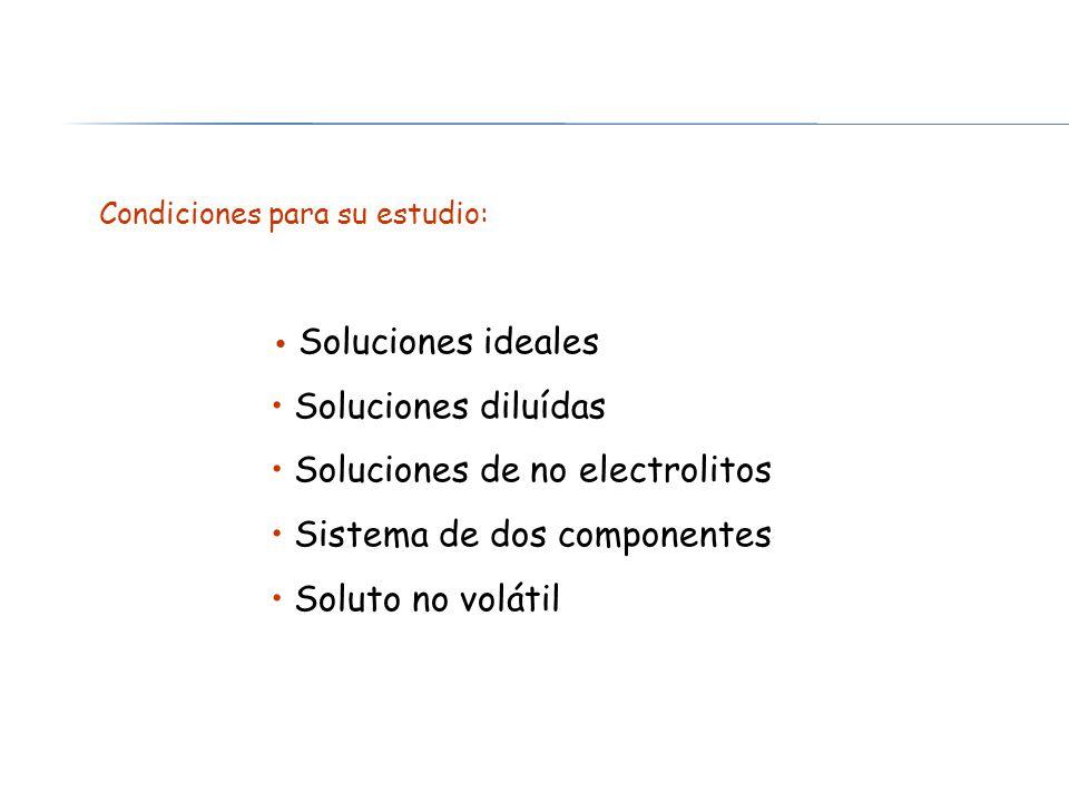 Soluciones de no electrolitos Sistema de dos componentes