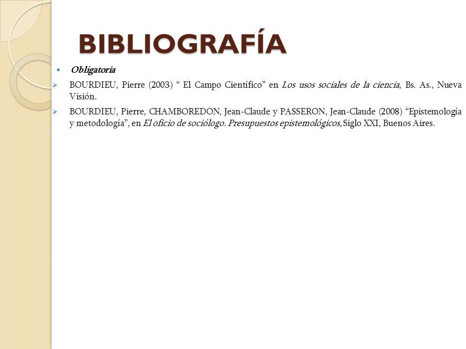 BIBLIOGRAFÍA Obligatoria
