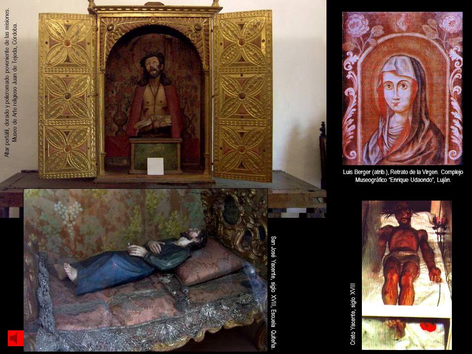 Altar portátil, dorado y policromado poveniente de las misiones