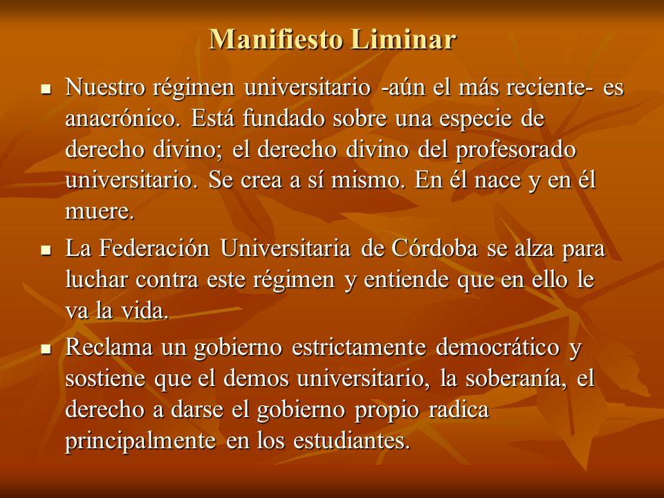 Manifiesto Liminar