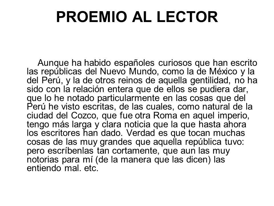 PROEMIO AL LECTOR