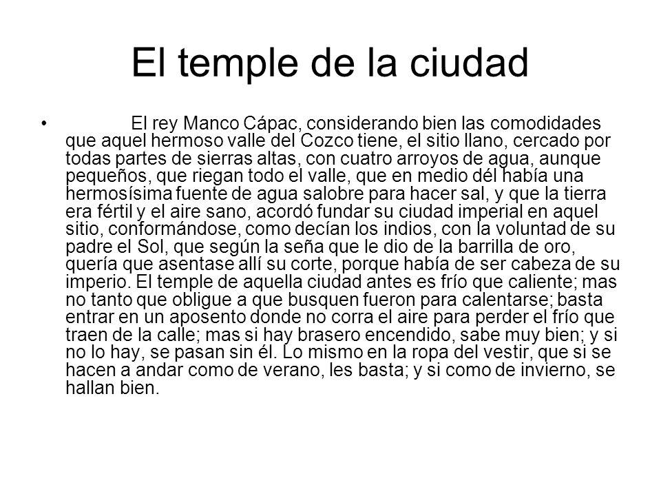 El temple de la ciudad