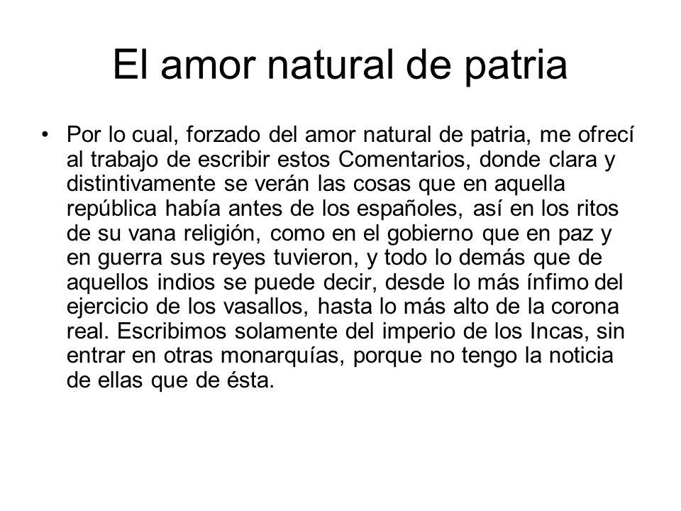 El amor natural de patria
