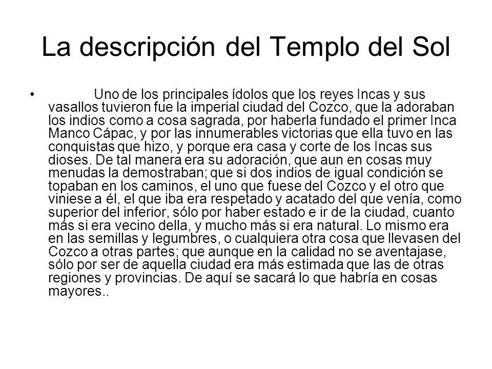 La descripción del Templo del Sol
