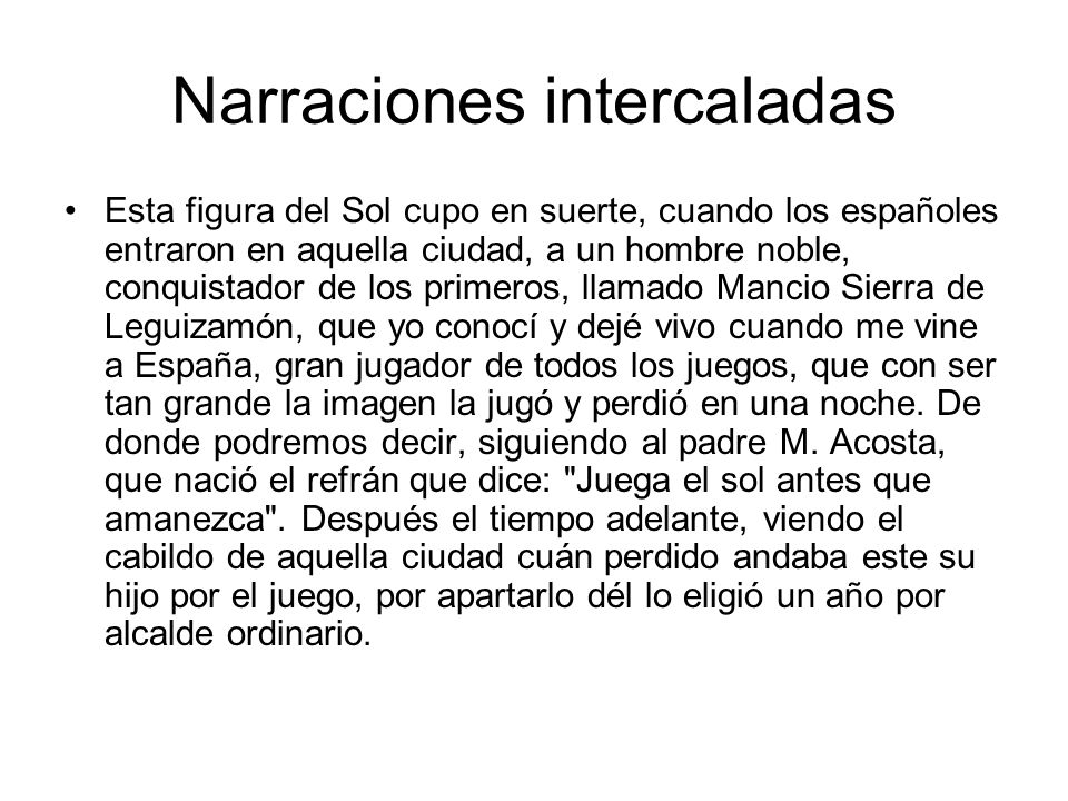 Narraciones intercaladas