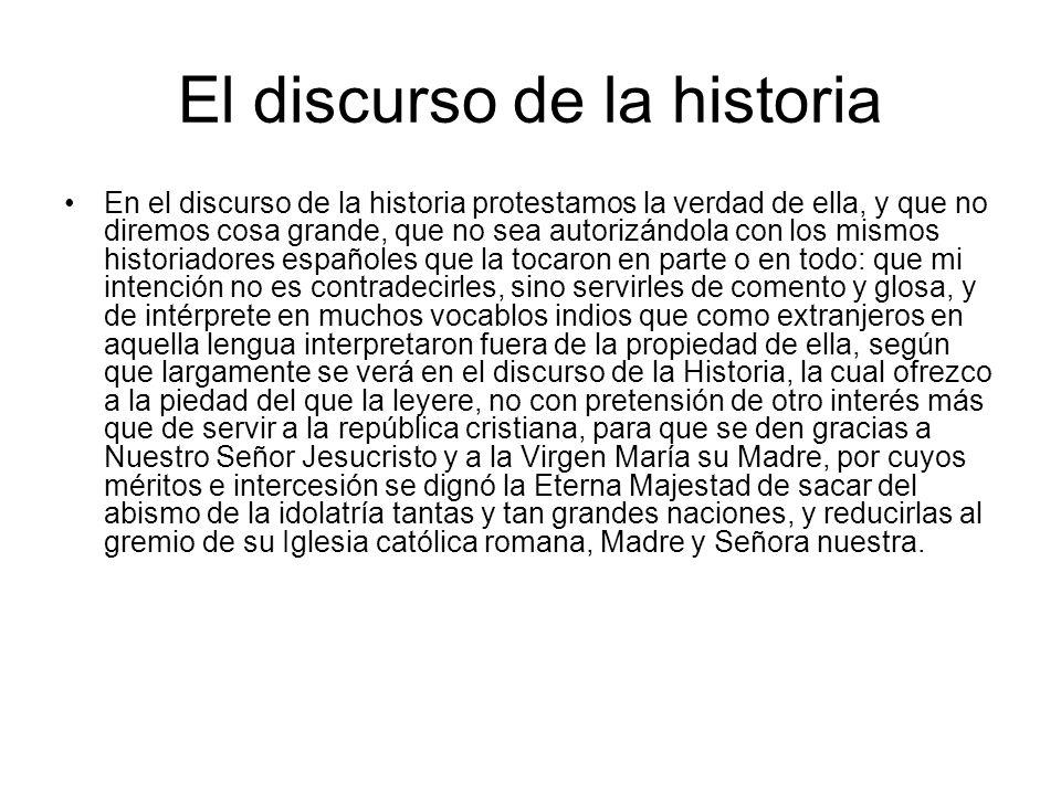 El discurso de la historia