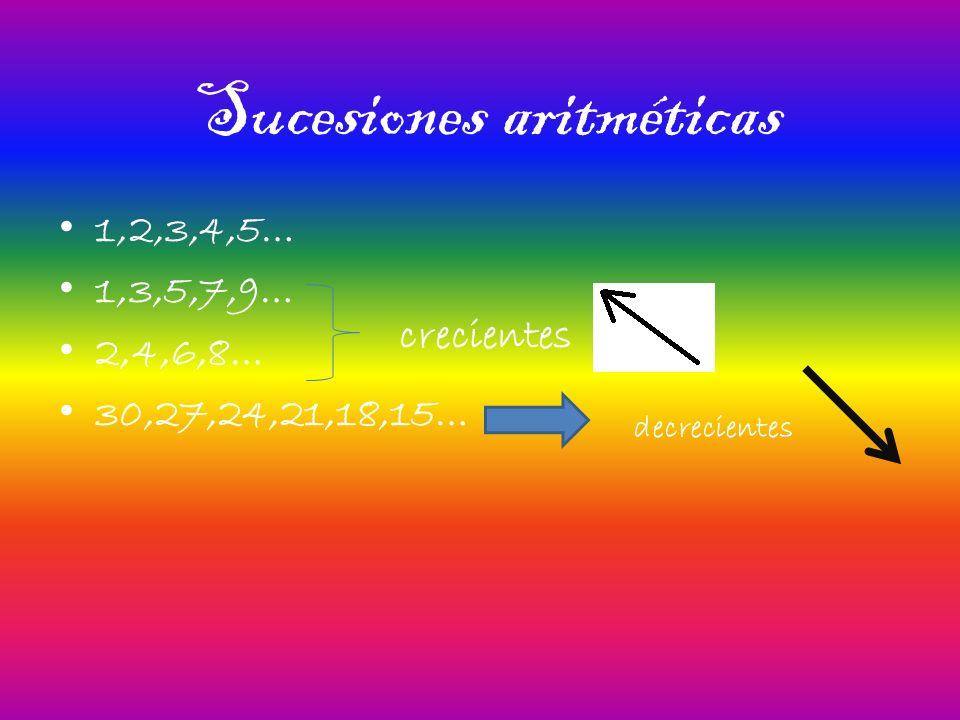 Sucesiones aritméticas