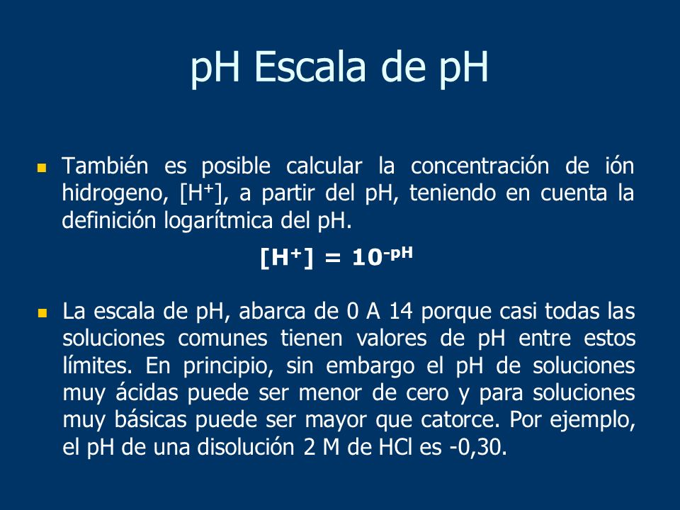 pH Escala de pH