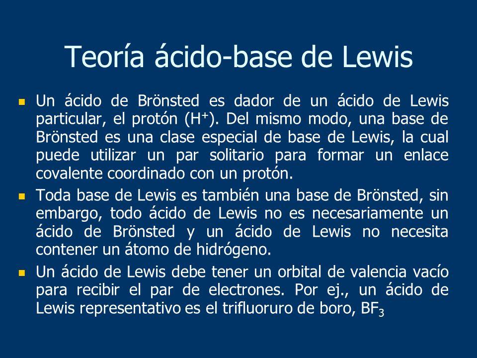 Teoría ácido-base de Lewis