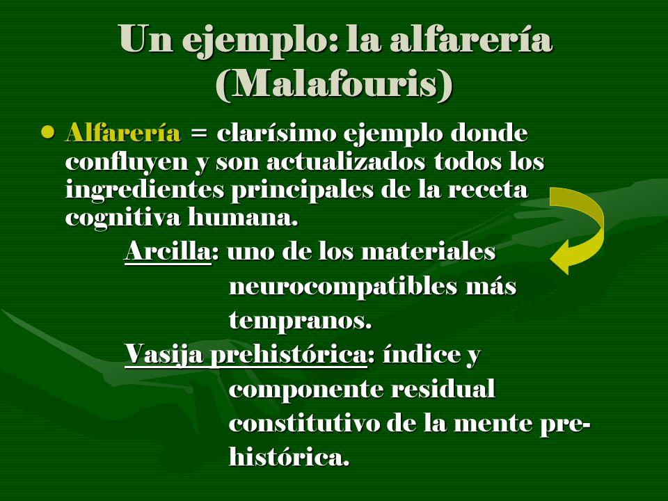 Un ejemplo: la alfarería (Malafouris)