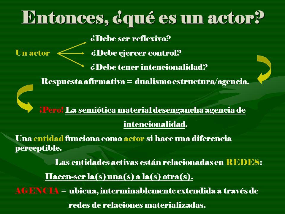 Entonces, ¿qué es un actor