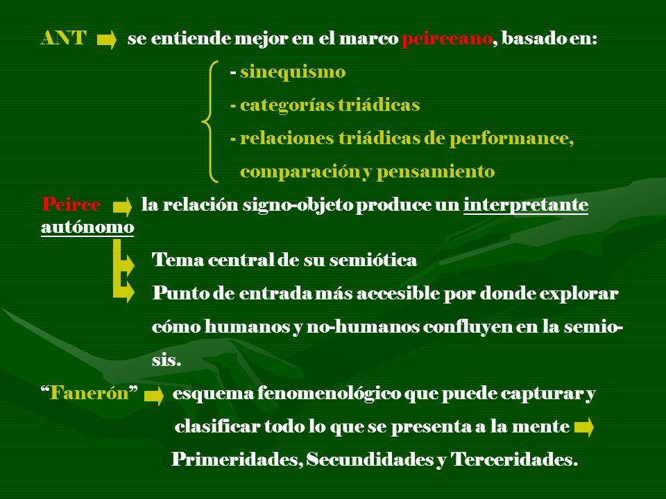 ANT se entiende mejor en el marco peirceano, basado en: