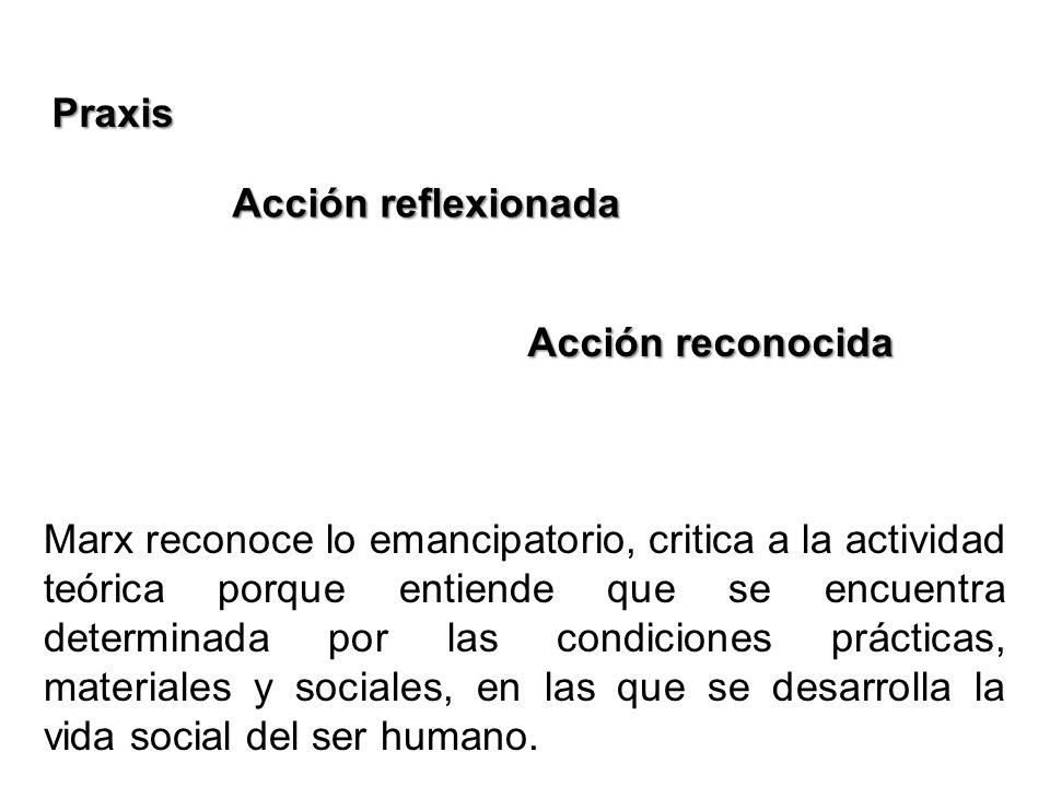 PraxisAcción reflexionada. Acción reconocida.
