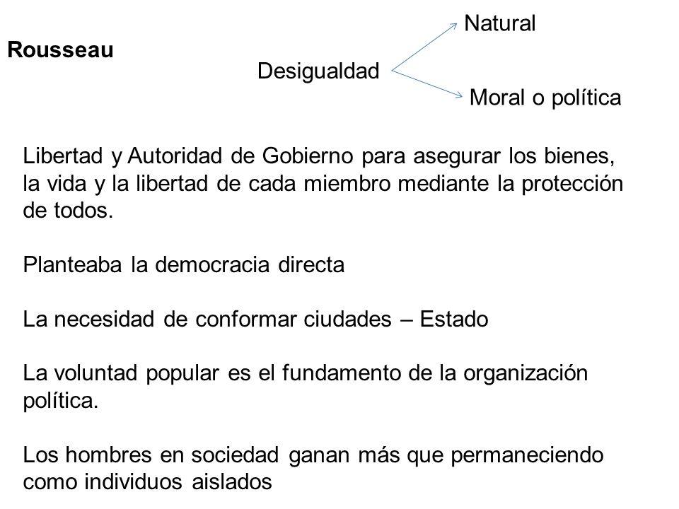 NaturalRousseau. Desigualdad. Moral o política.