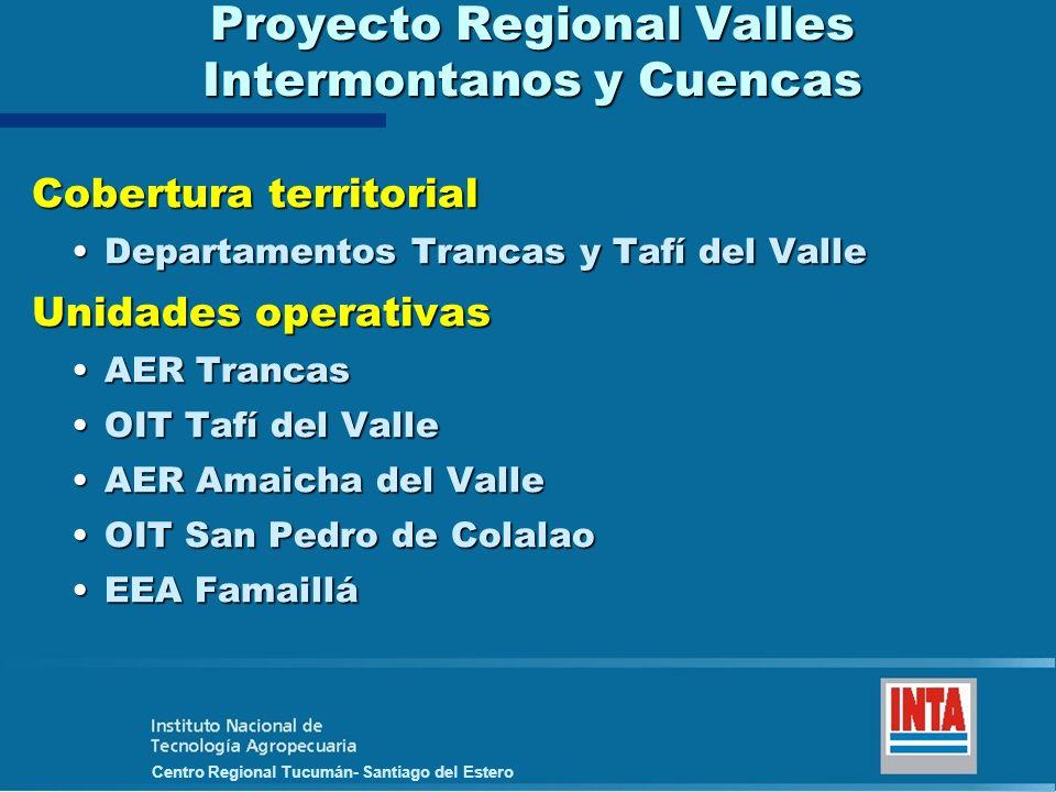 Proyecto Regional Valles Intermontanos y Cuencas