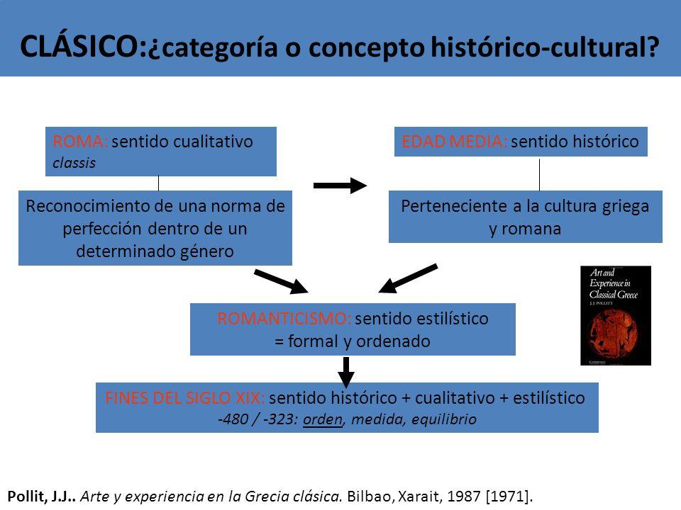 CLÁSICO:¿categoría o concepto histórico-cultural