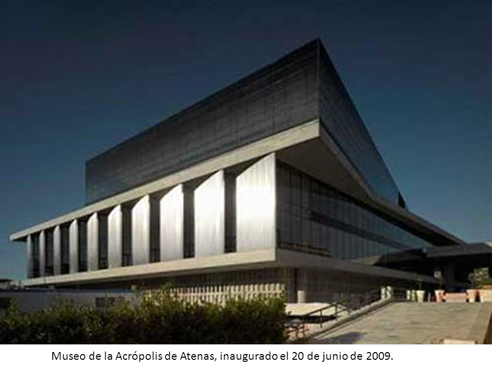 Museo de la Acrópolis de Atenas, inaugurado el 20 de junio de 2009.