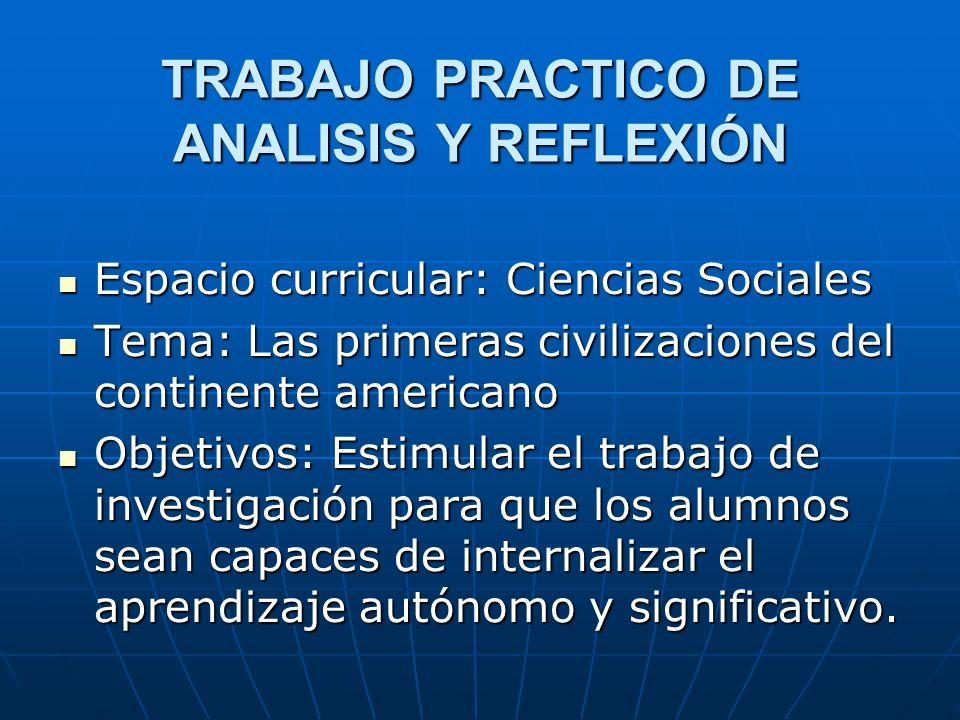 TRABAJO PRACTICO DE ANALISIS Y REFLEXIÓN