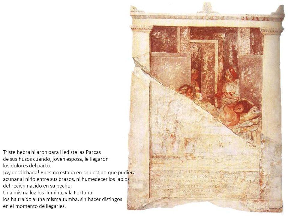 Triste hebra hilaron para Hediste las Parcas