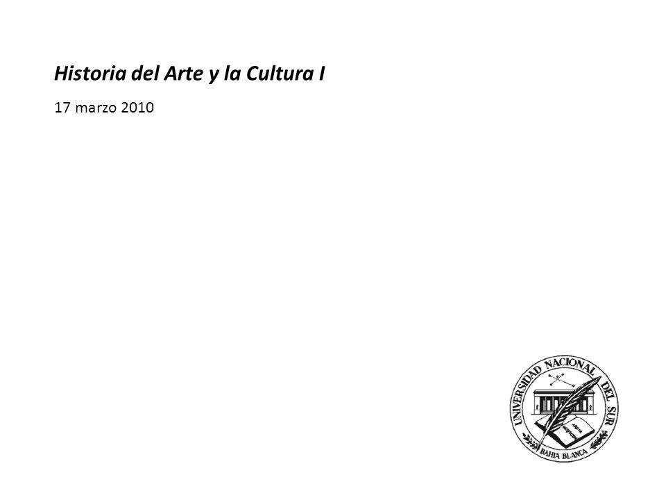 Historia del Arte y la Cultura I