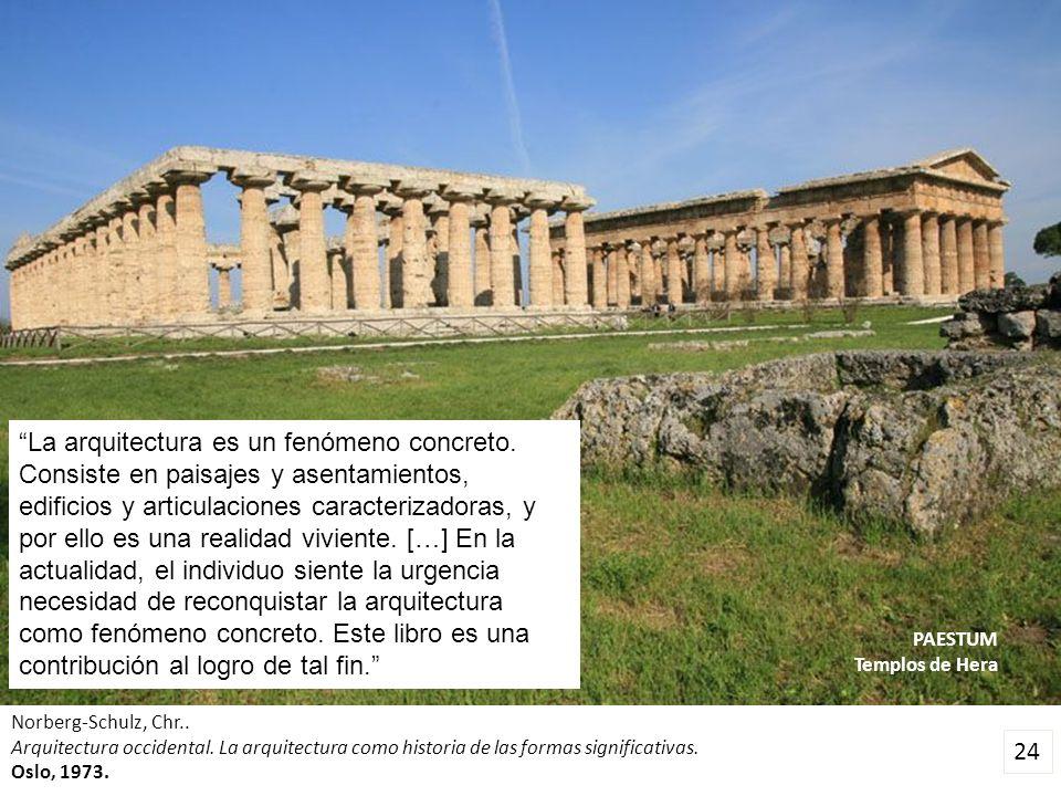 La arquitectura es un fenómeno concreto