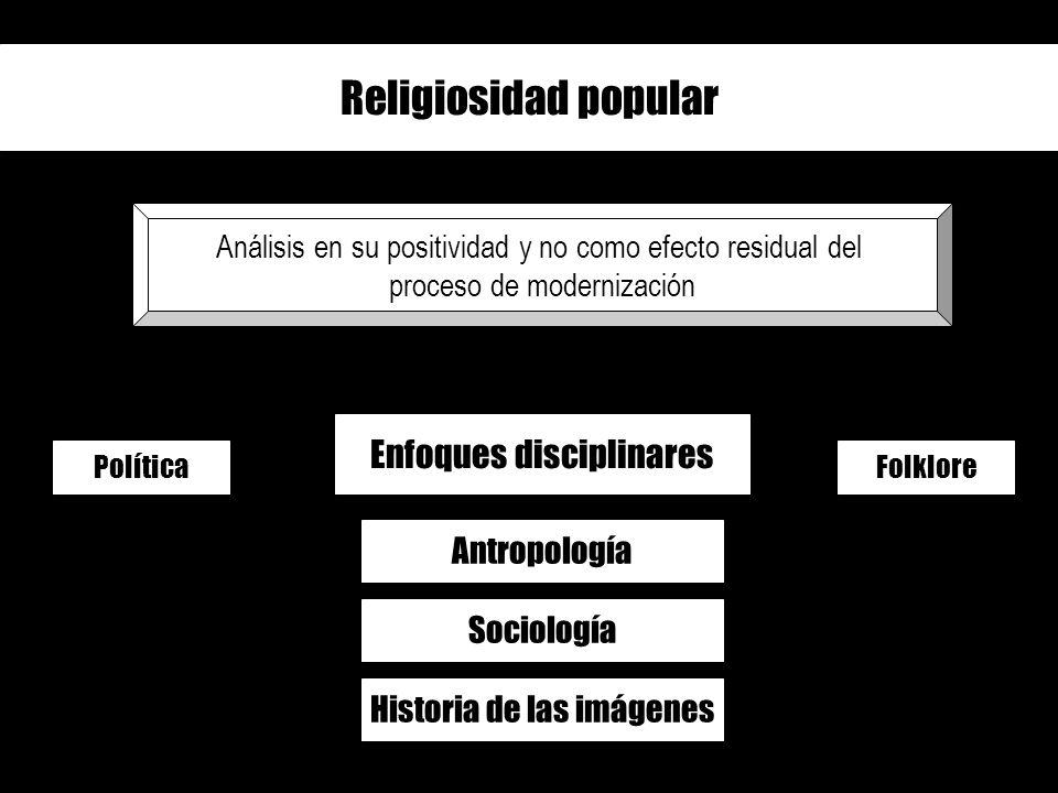 Religiosidad popular Enfoques disciplinares Antropología Sociología