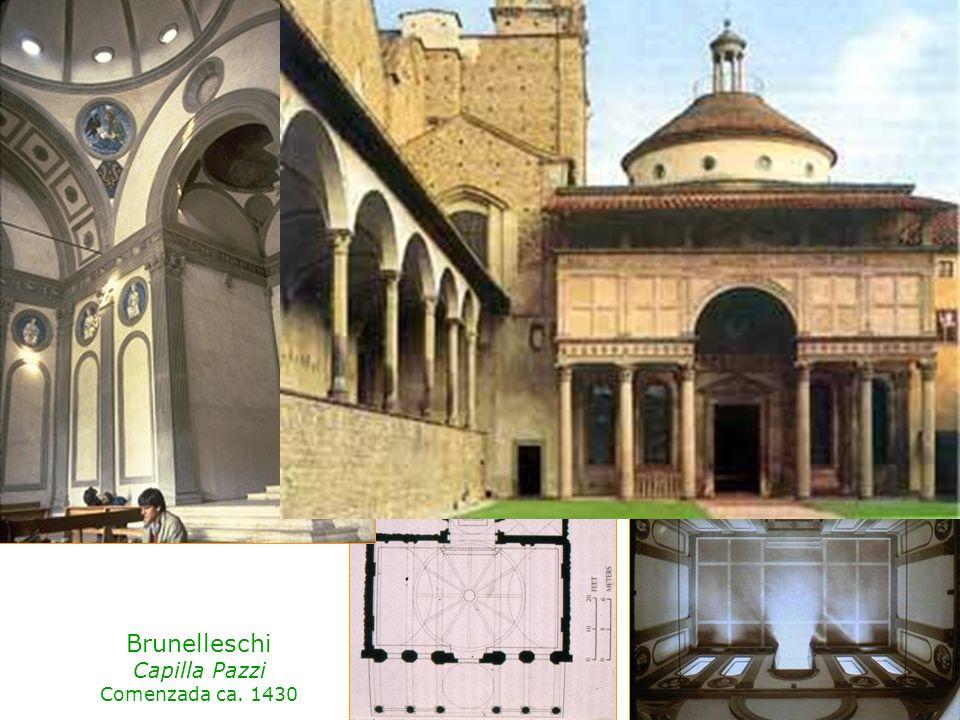 Brunelleschi Capilla Pazzi Comenzada ca. 1430