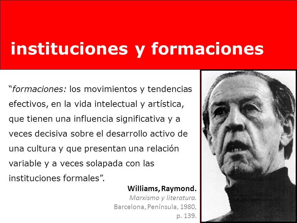 instituciones y formaciones