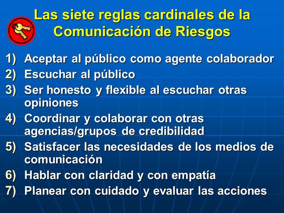Las siete reglas cardinales de la Comunicación de Riesgos