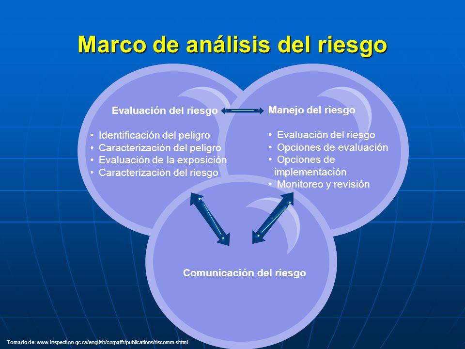 Marco de análisis del riesgo Comunicación del riesgo