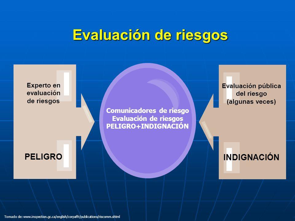 Experto en evaluación de riesgos Comunicadores de riesgo