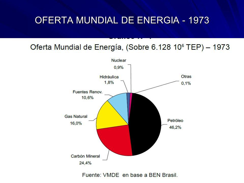 OFERTA MUNDIAL DE ENERGIA - 1973