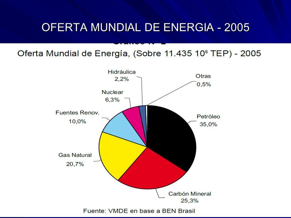 OFERTA MUNDIAL DE ENERGIA - 2005