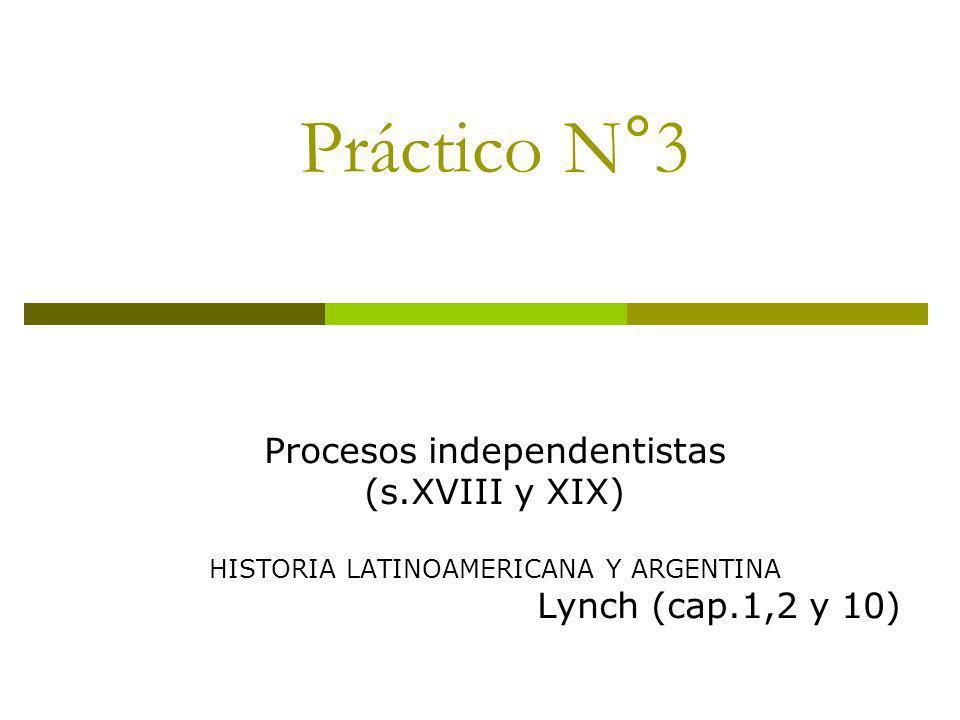 Práctico N°3 Procesos independentistas (s.XVIII y XIX)