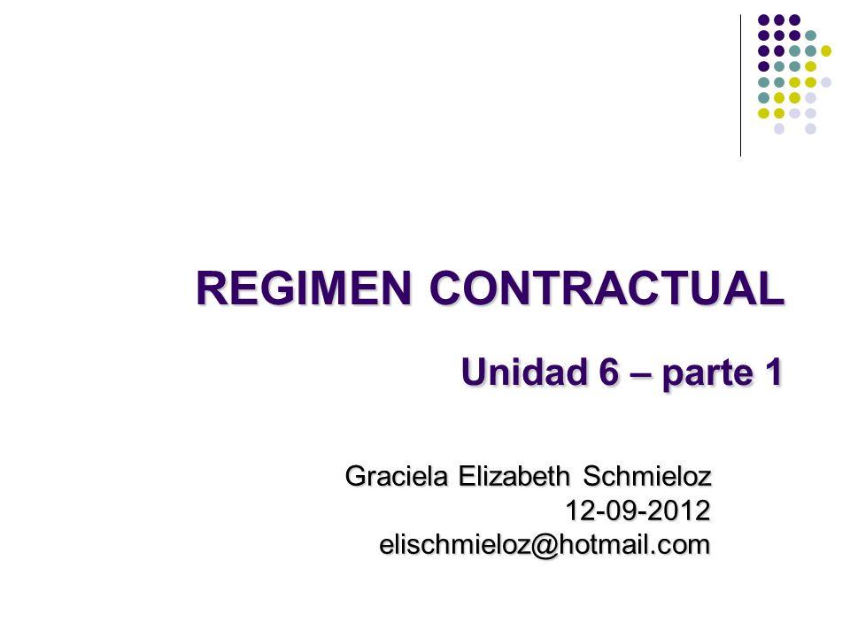 REGIMEN CONTRACTUAL Unidad 6 – parte 1