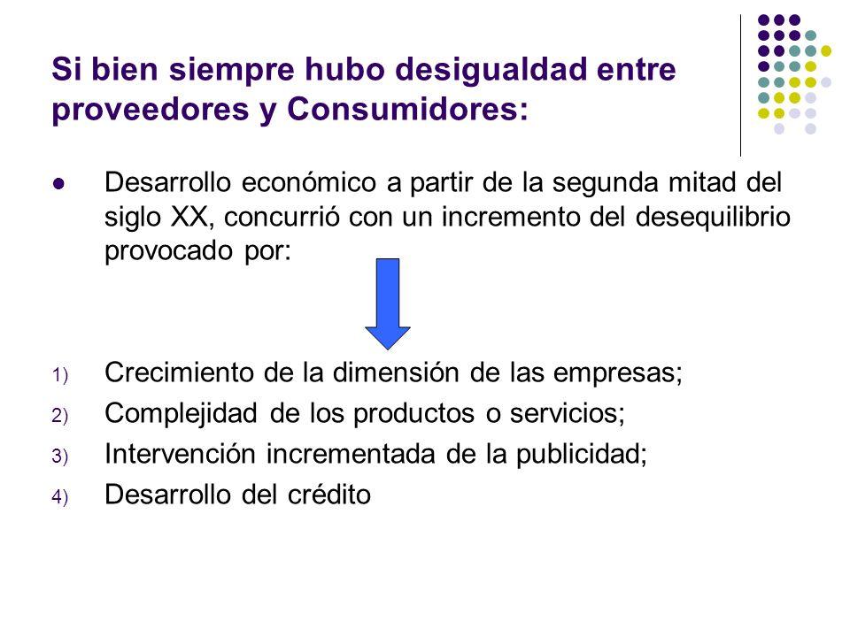 Si bien siempre hubo desigualdad entre proveedores y Consumidores: