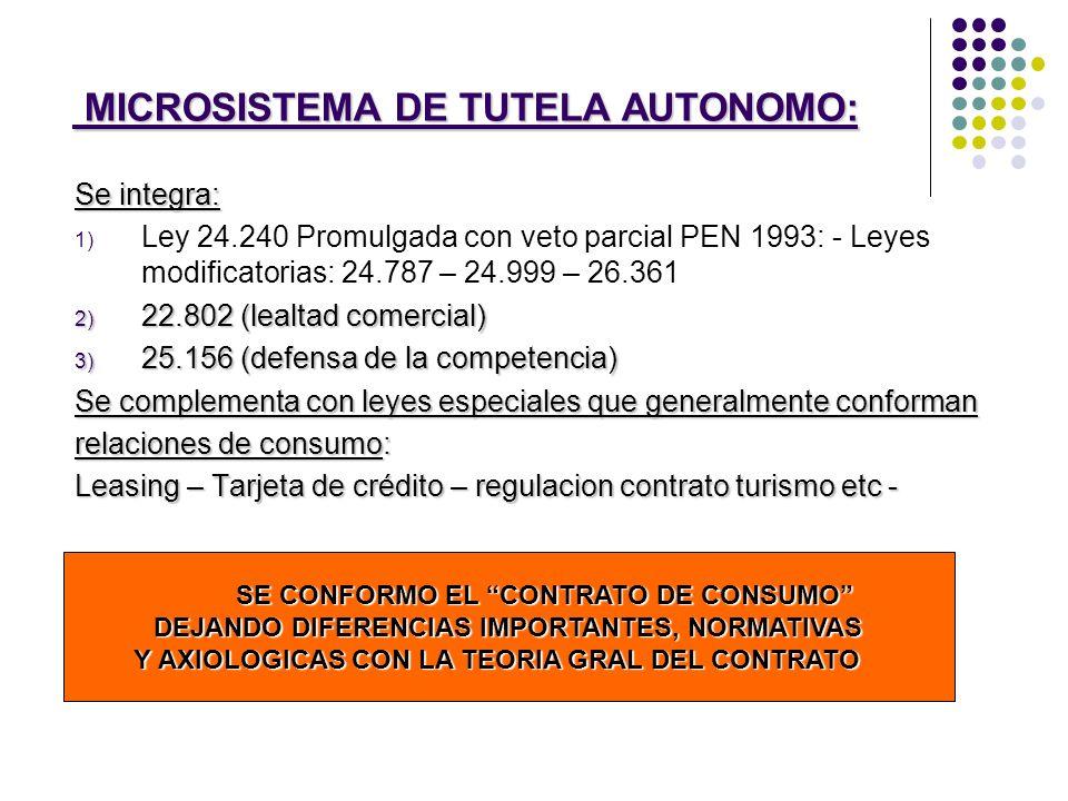 MICROSISTEMA DE TUTELA AUTONOMO: