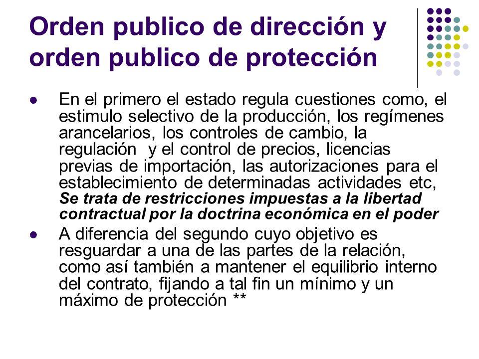 Orden publico de dirección y orden publico de protección