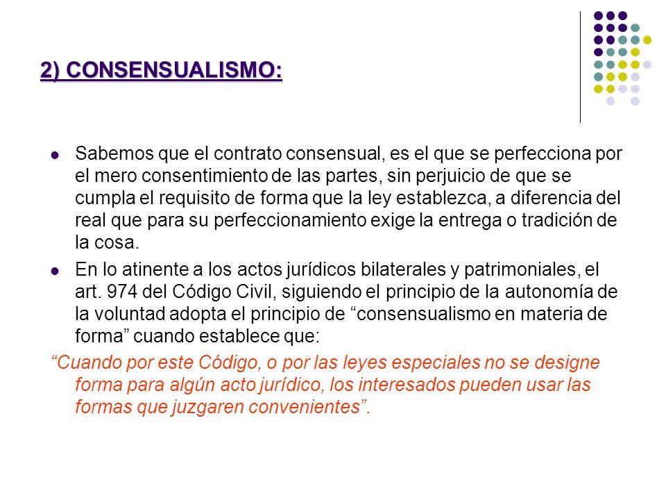 2) CONSENSUALISMO: