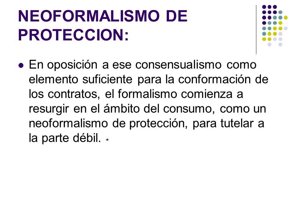 NEOFORMALISMO DE PROTECCION: